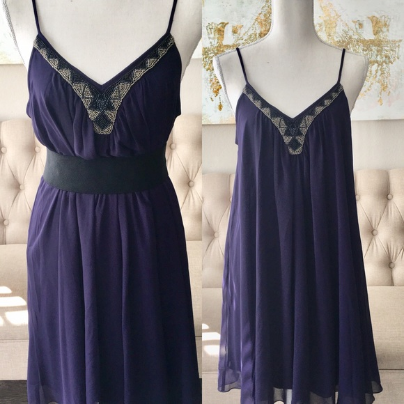 Express Royal Purple Loose Flowing Dress | Poshmark